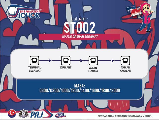 Laluan Bas Muafakat Johor 2